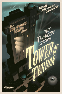 Tower of Terror Disney California Adventure promotional poster