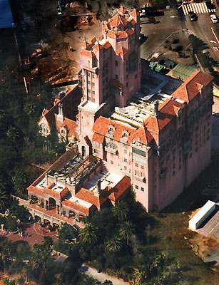 tower of terror aerial photos hollywood studios florida WDW