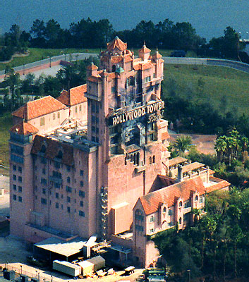 tower of terror aerial photos hollywood studios HS WDW front