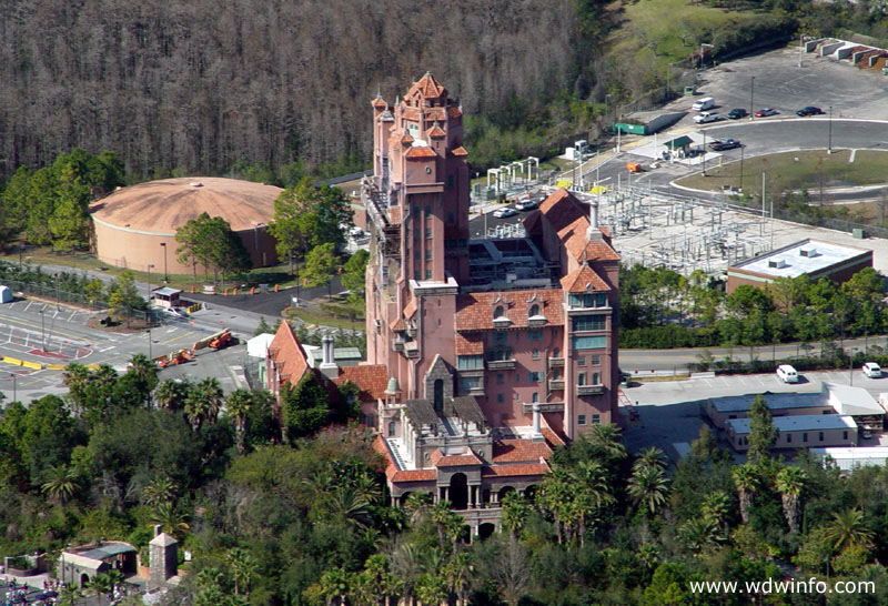 tower of terror aerial photos MGM Hollywood Studios side view