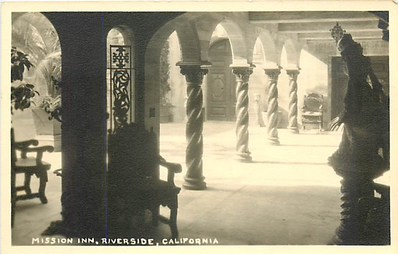 Mission Inn Riverside California vintage photograph Tower of Terror