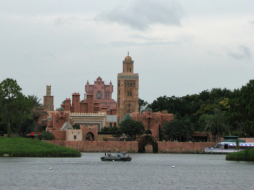 See the Tower of Terror from inside EPCOT Mexico Pavilion