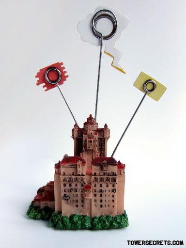 tower of terror memo holder replica souvenir back