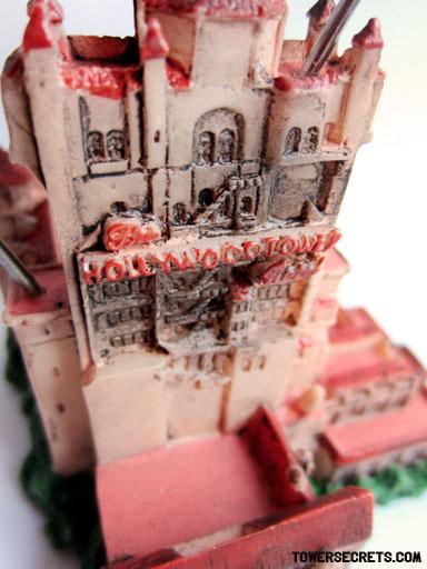 tower of terror memo holder replica souvenir front detail