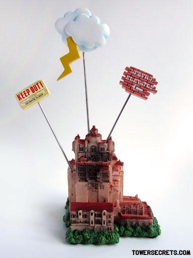 tower of terror memo holder replica souvenir front