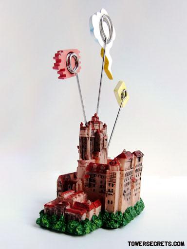 tower of terror memo holder replica souvenir side and back