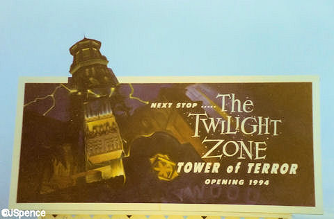 Tower of Terror Construction Hollywood Studios Florida billboard advertising