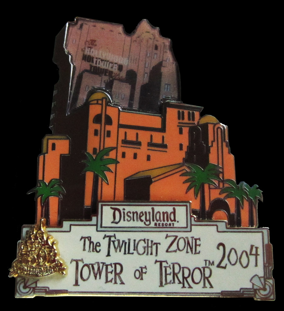 DCA Tower of Terror pin Disneyland 2004