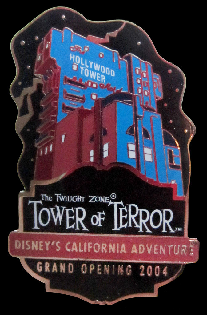 DCA Tower of Terror pin grand opening 2004