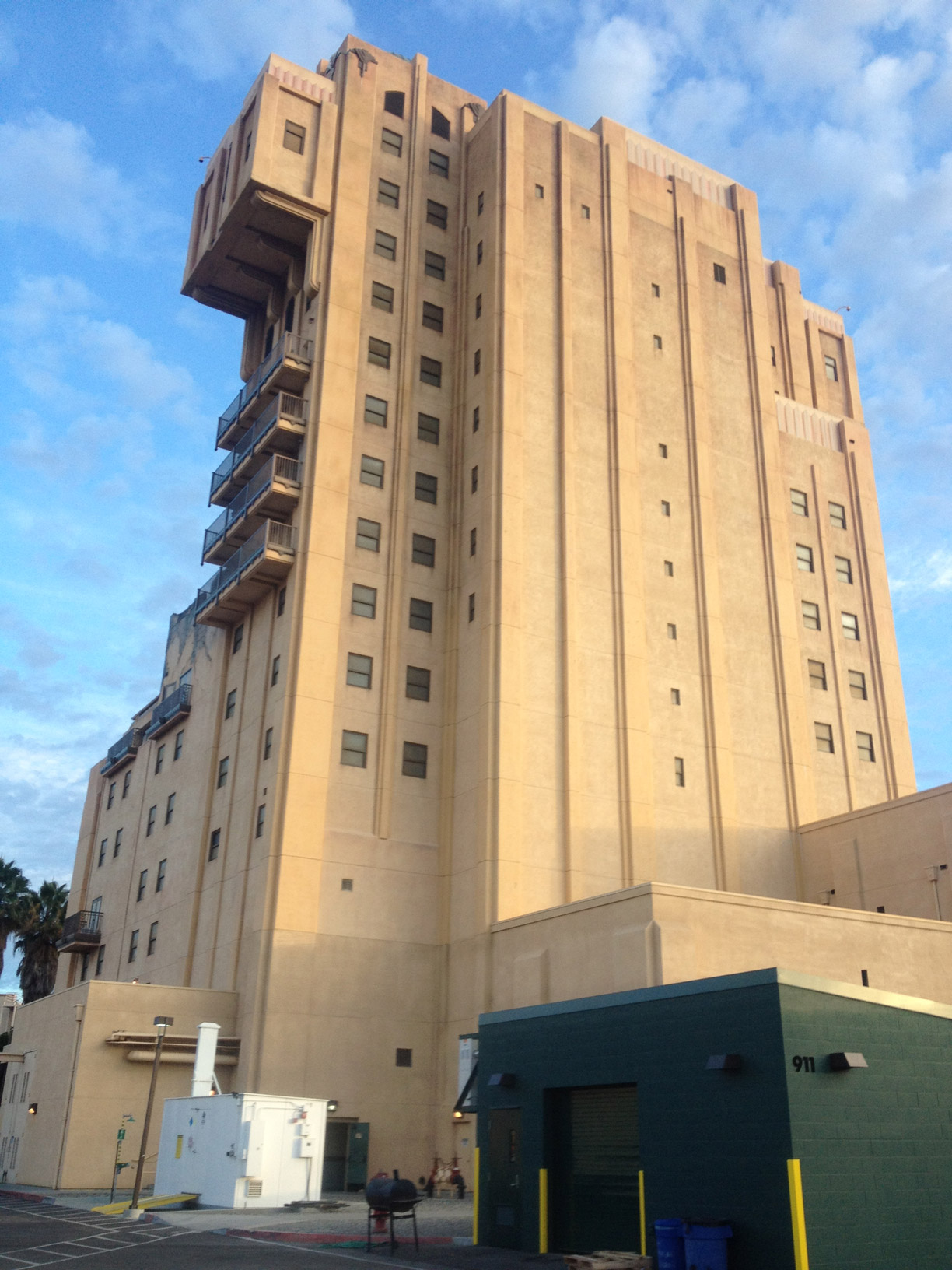 DCA Tower of Terror backstage area