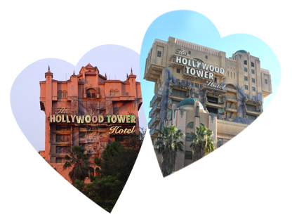 Tower of Terror favorite ride Florida vs California love both