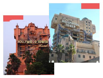 Tower of Terror favorite ride Florida vs California love both
