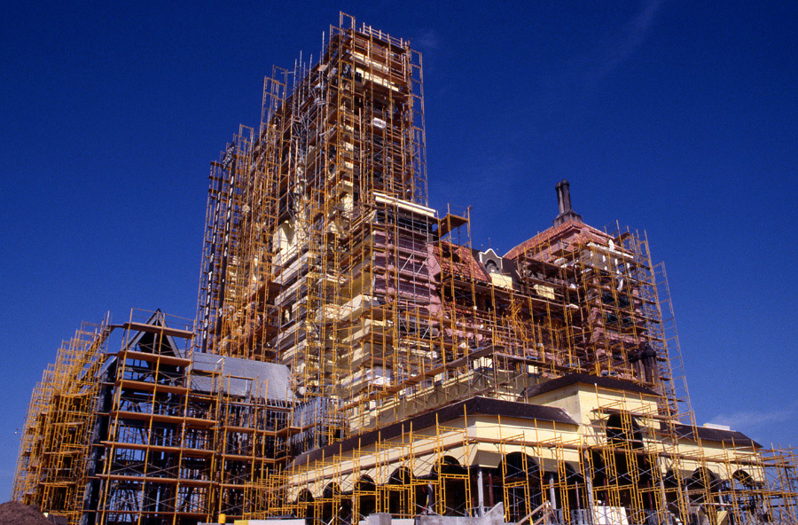 Tower of Terror construction Hollywood Studios florida