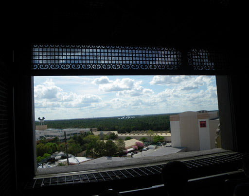 The view from the top of the Tower of Terror