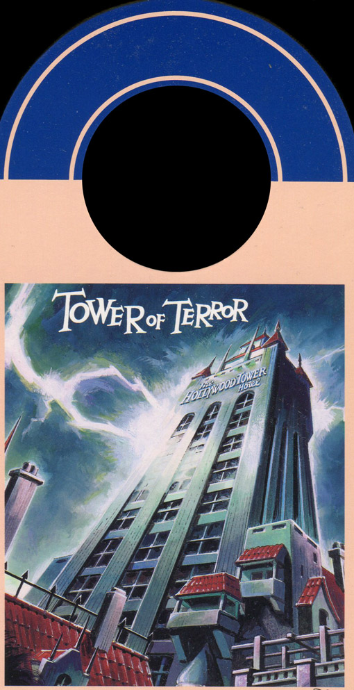 Tower of Terror on ride photo picture number card