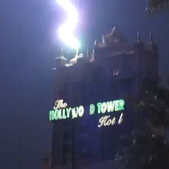 tower of terror safety features lightning rods