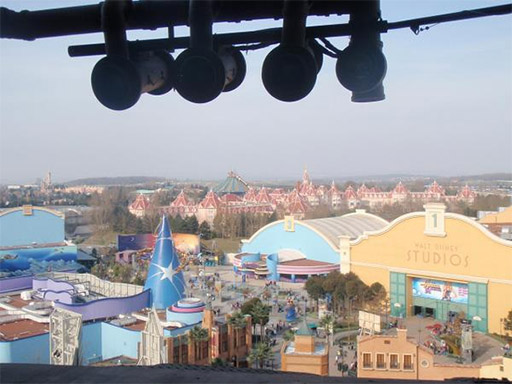 The view from the top of the Tower of Terror Paris
