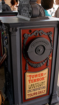 Tokyo DisneySea Tower of Terror FastPass dispenser machine