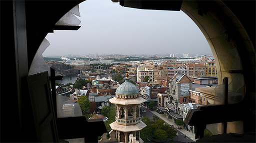 The view from the top of the Tower of Terror Tokyo DisneySea