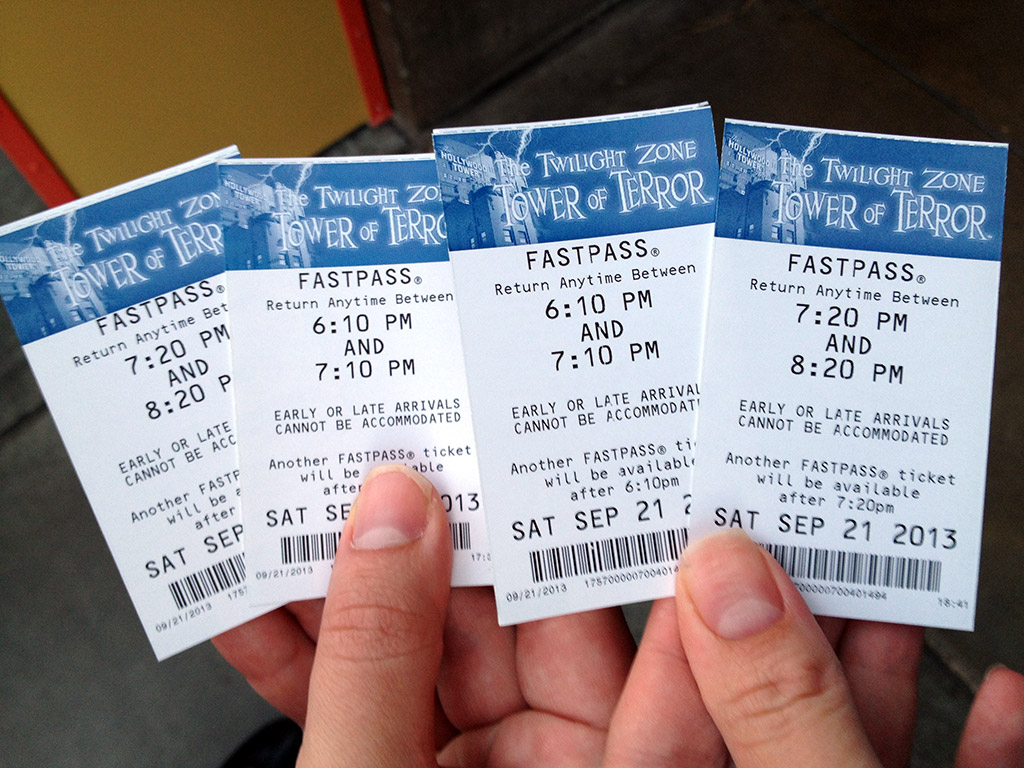 DCA Tower of Terror FastPass