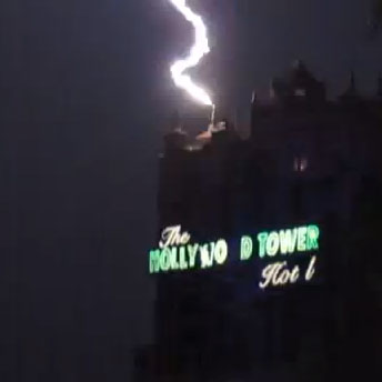 has lightning ever really struck the tower of terror