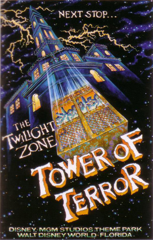 tower of terror drop profiles vintage poster