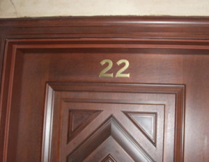 "Twilight Zone reference in the Tower of Terror door ""22"" from ""Twenty Two"" found in Disney California Adventure"