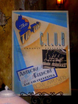 Tower of Terror Tip Top club poster featuring Anthony Freemont and his Orchestra