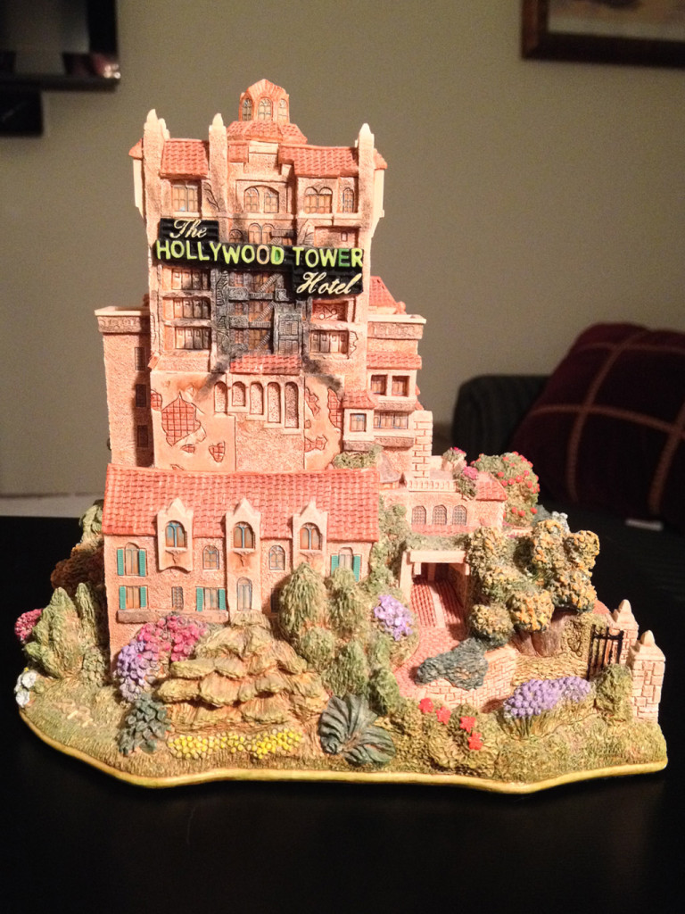 TowerSecrets: Lilliput Lane Tower of Terror collectible sculpture. Front view.
