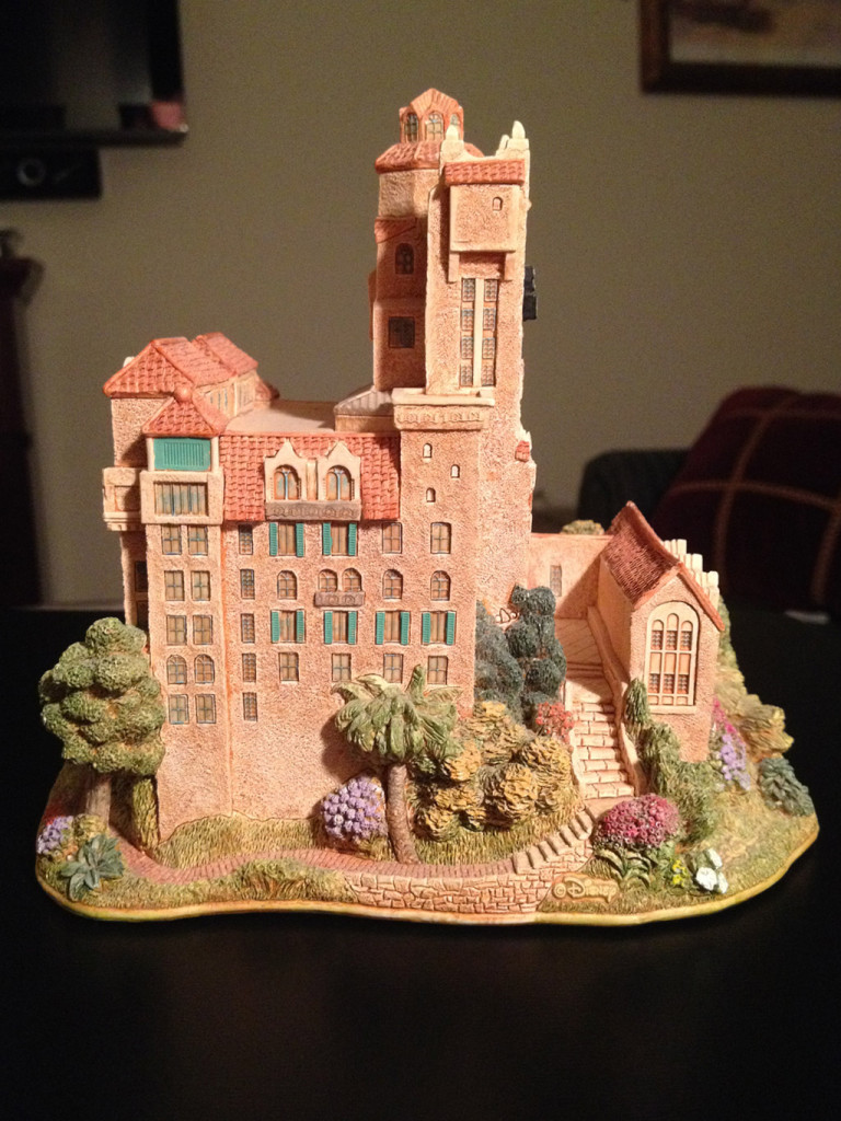 TowerSecrets: Lilliput Lane Tower of Terror collectible sculpture. Right side view.